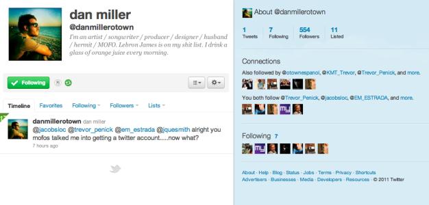 Dan joins Twitter nation!