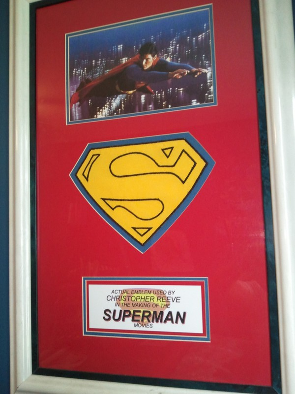 """Regarding Superman, I'm a real teeny-bopper. I showed this off on CRIBS and it still lives on my wall"""